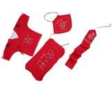 婴儿出生装红四件